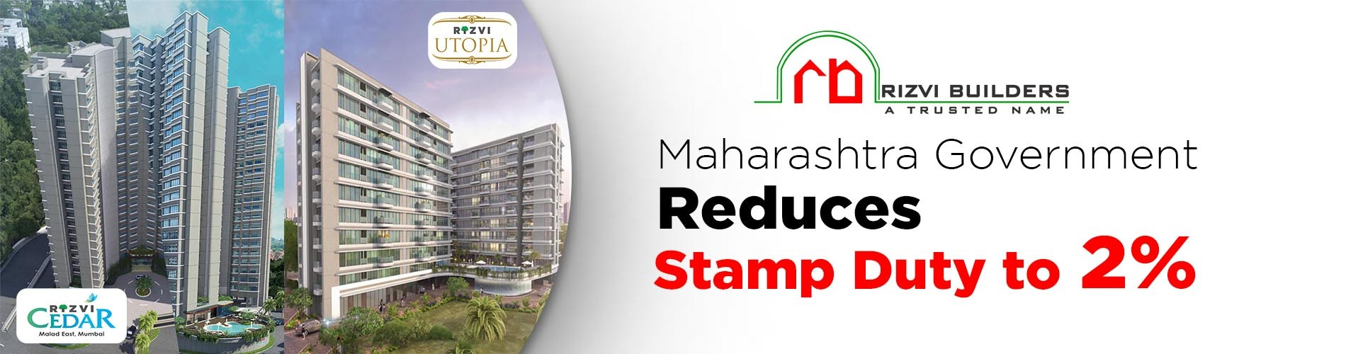Maharashtra Government reduces Stamp Duty to 2%